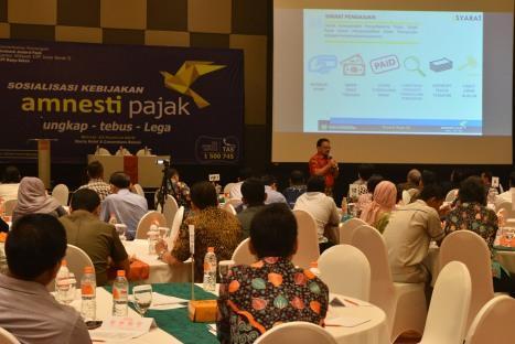 Sebagai Narasumber dalam sosialisasi Amnesti Pajak untuk Wajib Pajak KPP Madya Bekasi (Haris Hotel & Convention Bekasi 23.08.2016)