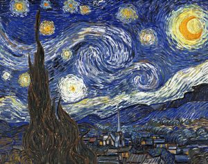 Starry Night canvas Vincent van Gogh -1889